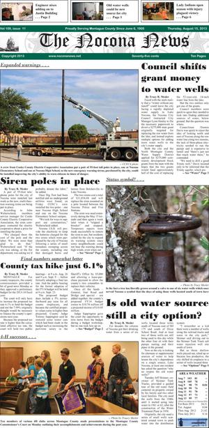 Primary view of object titled 'The Nocona News (Nocona, Tex.), Vol. 109, No. 11, Ed. 1 Thursday, August 15, 2013'.