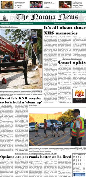 Primary view of object titled 'The Nocona News (Nocona, Tex.), Vol. 109, No. 13, Ed. 1 Thursday, August 29, 2013'.