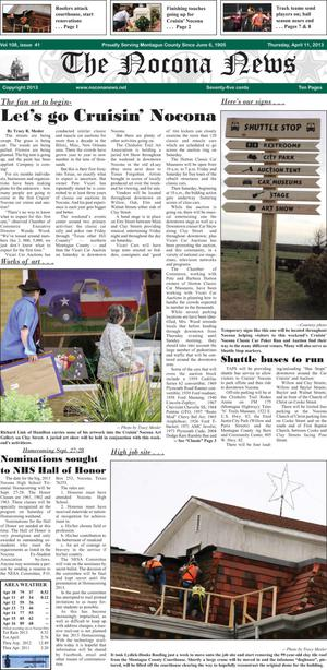 Primary view of object titled 'The Nocona News (Nocona, Tex.), Vol. 108, No. 41, Ed. 1 Thursday, April 18, 2013'.