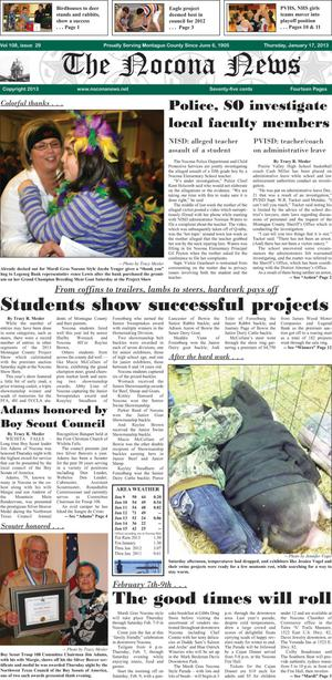 Primary view of object titled 'The Nocona News (Nocona, Tex.), Vol. 108, No. 29, Ed. 1 Thursday, January 17, 2013'.