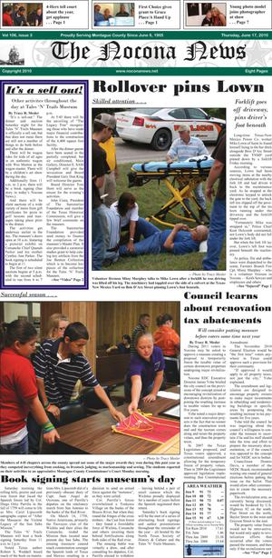 Primary view of object titled 'The Nocona News (Nocona, Tex.), Vol. 106, No. 3, Ed. 1 Thursday, June 17, 2010'.