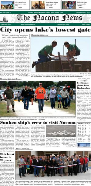 Primary view of object titled 'The Nocona News (Nocona, Tex.), Vol. 108, No. 43, Ed. 1 Thursday, May 2, 2013'.