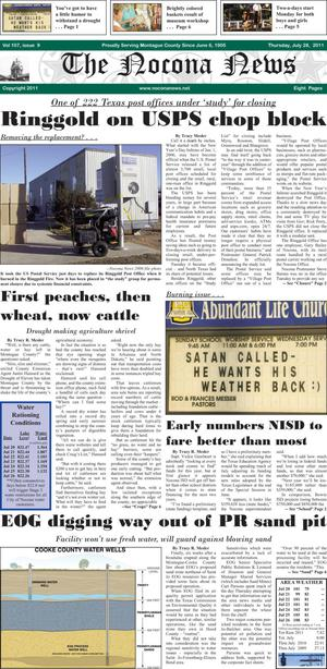Primary view of object titled 'The Nocona News (Nocona, Tex.), Vol. 107, No. 9, Ed. 1 Thursday, July 28, 2011'.