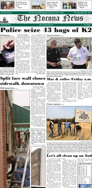 Primary view of object titled 'The Nocona News (Nocona, Tex.), Vol. 106, No. 43, Ed. 1 Thursday, March 24, 2011'.