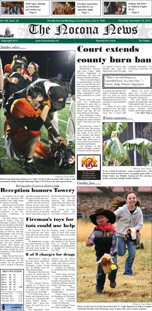 Primary view of object titled 'The Nocona News (Nocona, Tex.), Vol. 108, No. 25, Ed. 1 Thursday, December 13, 2012'.