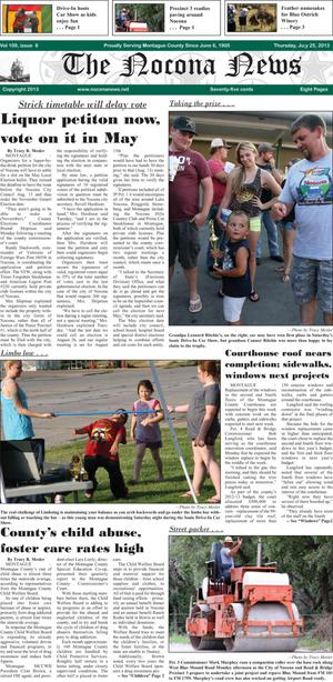 Primary view of object titled 'The Nocona News (Nocona, Tex.), Vol. 109, No. 8, Ed. 1 Thursday, July 25, 2013'.