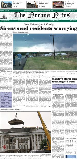 Primary view of object titled 'The Nocona News (Nocona, Tex.), Vol. 108, No. 46, Ed. 1 Thursday, May 23, 2013'.