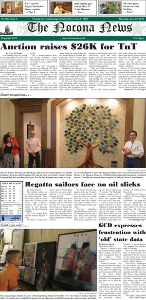 Primary view of object titled 'The Nocona News (Nocona, Tex.), Vol. 106, No. 4, Ed. 1 Thursday, June 24, 2010'.