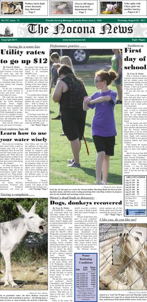 Primary view of object titled 'The Nocona News (Nocona, Tex.), Vol. 107, No. 13, Ed. 1 Thursday, August 25, 2011'.