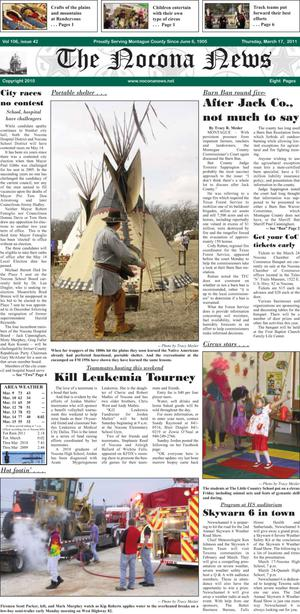 Primary view of object titled 'The Nocona News (Nocona, Tex.), Vol. 106, No. 42, Ed. 1 Thursday, March 17, 2011'.