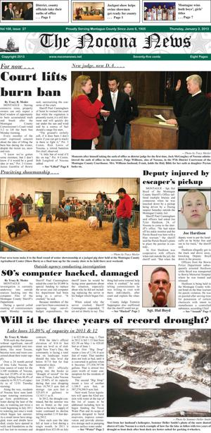 Primary view of object titled 'The Nocona News (Nocona, Tex.), Vol. 108, No. 27, Ed. 1 Thursday, January 3, 2013'.