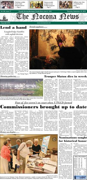 Primary view of object titled 'The Nocona News (Nocona, Tex.), Vol. 106, No. 17, Ed. 1 Thursday, September 23, 2010'.