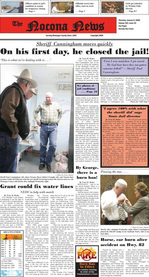 Primary view of object titled 'The Nocona News (Nocona, Tex.), Vol. 104, No. 32, Ed. 1 Thursday, January 8, 2009'.