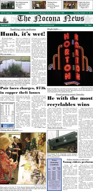 Primary view of object titled 'The Nocona News (Nocona, Tex.), Vol. 107, No. 20, Ed. 1 Thursday, October 13, 2011'.