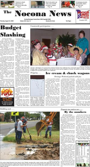 Primary view of object titled 'The Nocona News (Nocona, Tex.), Vol. 104, No. 11, Ed. 1 Thursday, August 14, 2008'.