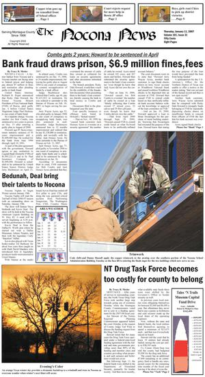 Primary view of object titled 'The Nocona News (Nocona, Tex.), Vol. 101, No. 31, Ed. 1 Thursday, January 11, 2007'.