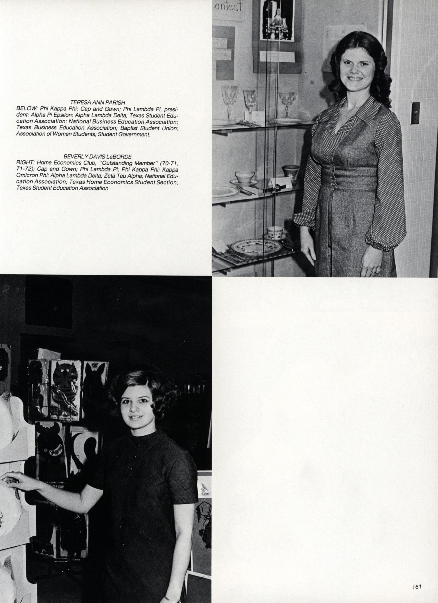 The Cardinal, Yearbook of Lamar University, 1973 - Page 161 - The ...