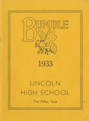 Primary view of object titled 'The Bumblebee, Yearbook of Lincoln High School, 1933'.