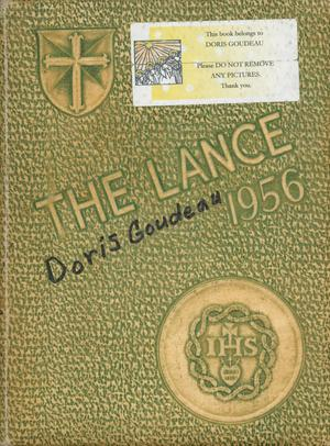Primary view of object titled 'The Lance, Yearbook of Sacred Heart High School, 1956'.