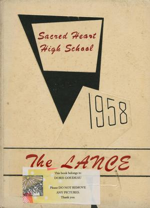 Primary view of object titled 'The Lance, Yearbook of Sacred Heart High School, 1958'.