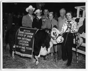 Primary view of object titled 'Grand Champion Steer of Show, San Antonio, Texas, 1958'.