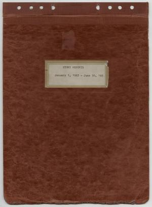 Primary view of object titled '[News Story Log: January 1 to June 30, 1983]'.