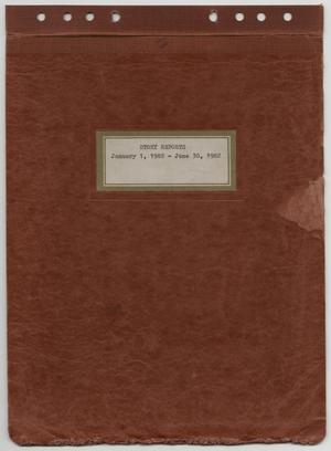 Primary view of object titled '[News Story Log: January 1 to June 30, 1982]'.