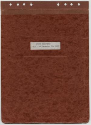 Primary view of object titled '[News Story Log: July 1 to December 31, 1986]'.