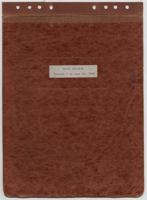 Primary view of object titled '[News Story Log: January 1 to June 30, 1988]'.