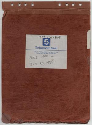 Primary view of object titled '[News Story Log: January 1 to June 30, 1994]'.
