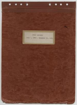 Primary view of object titled '[News Story Log: July 1 to December 31, 1983]'.