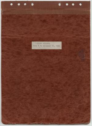 Primary view of object titled '[News Story Log: July 1 to December 31, 1988]'.