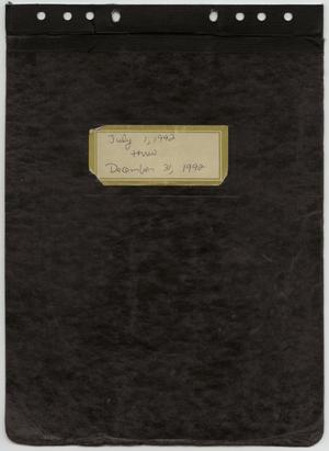 Primary view of object titled '[News Story Log: July 1 to December 31, 1992]'.