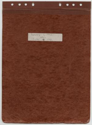 Primary view of object titled '[News Story Log: January 1 to June 30, 1992]'.