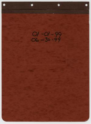 Primary view of object titled '[News Story Log: January 1 to June 30, 1999]'.