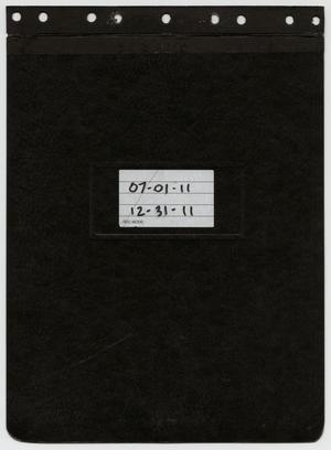 Primary view of object titled '[News Story Log: July 1 to December 31, 2011]'.