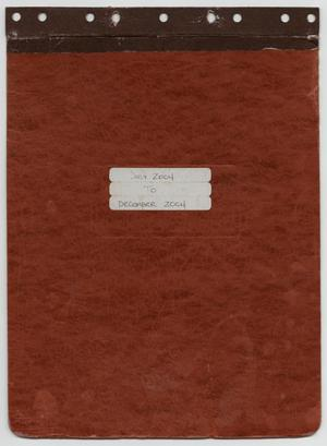 Primary view of object titled '[News Story Log: July 1 to December 31, 2004]'.