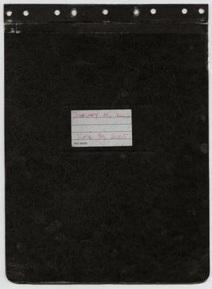 Primary view of object titled '[News Story Log: January 1 to June 30, 2005]'.