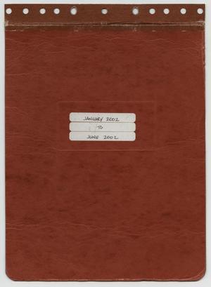 Primary view of object titled '[News Story Log: January 1 to June 30, 2002]'.