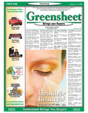 Primary view of object titled 'Greensheet (Houston, Tex.), Vol. 36, No. 568, Ed. 1 Wednesday, January 4, 2006'.