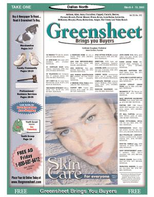 Primary view of object titled 'Greensheet (Dallas, Tex.), Vol. 28, No. 312, Ed. 1 Friday, March 4, 2005'.
