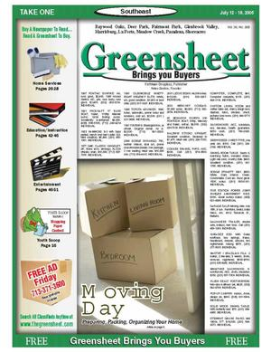 Primary view of object titled 'Greensheet (Houston, Tex.), Vol. 36, No. 265, Ed. 1 Tuesday, July 12, 2005'.