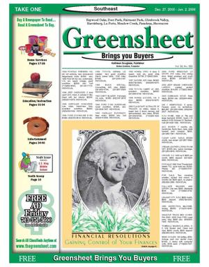Primary view of object titled 'Greensheet (Houston, Tex.), Vol. 36, No. 553, Ed. 1 Tuesday, December 27, 2005'.