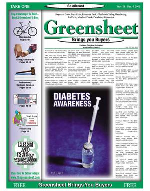 Primary view of object titled 'Greensheet (Houston, Tex.), Vol. 37, No. 505, Ed. 1 Tuesday, November 28, 2006'.