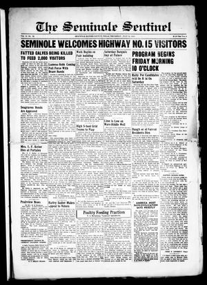 Primary view of object titled 'The Seminole Sentinel (Seminole, Tex.), Vol. 31, No. 20, Ed. 1 Thursday, July 14, 1938'.