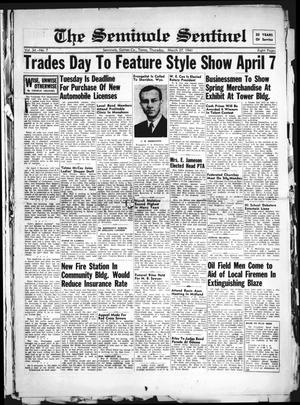 Primary view of object titled 'The Seminole Sentinel (Seminole, Tex.), Vol. 34, No. 7, Ed. 1 Thursday, March 27, 1941'.