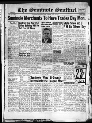 Primary view of object titled 'The Seminole Sentinel (Seminole, Tex.), Vol. 34, No. 8, Ed. 1 Thursday, April 3, 1941'.