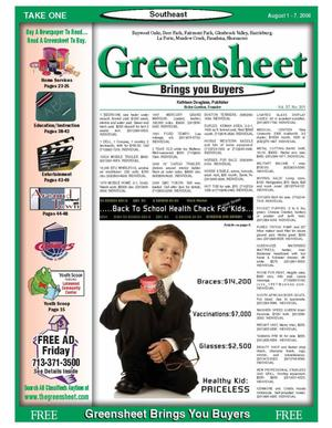 Primary view of object titled 'Greensheet (Houston, Tex.), Vol. 37, No. 301, Ed. 1 Tuesday, August 1, 2006'.