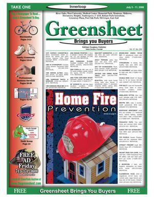 Primary view of object titled 'Greensheet (Houston, Tex.), Vol. 37, No. 256, Ed. 1 Wednesday, July 5, 2006'.