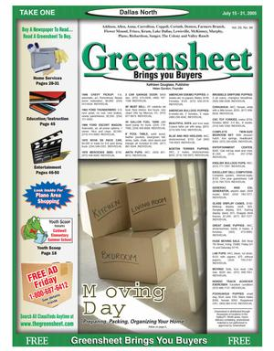 Primary view of object titled 'Greensheet (Dallas, Tex.), Vol. 29, No. 98, Ed. 1 Friday, July 15, 2005'.
